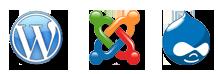 Drupal, Joomla, WordPress